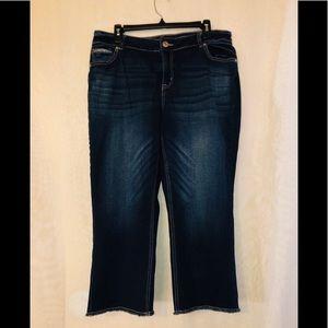 Maurice's dark wash crop jeans